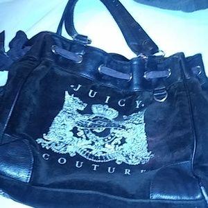 Juicy Couture Black Velvet Bag